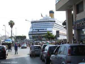 L'arrivo dei crocieristi in via Emerico Amari - Palermo (foto S...