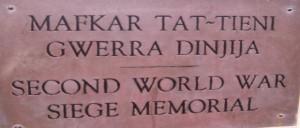 Targa bilingue maltese