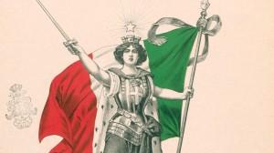 Allegoria dell'Italia con il Tricolore