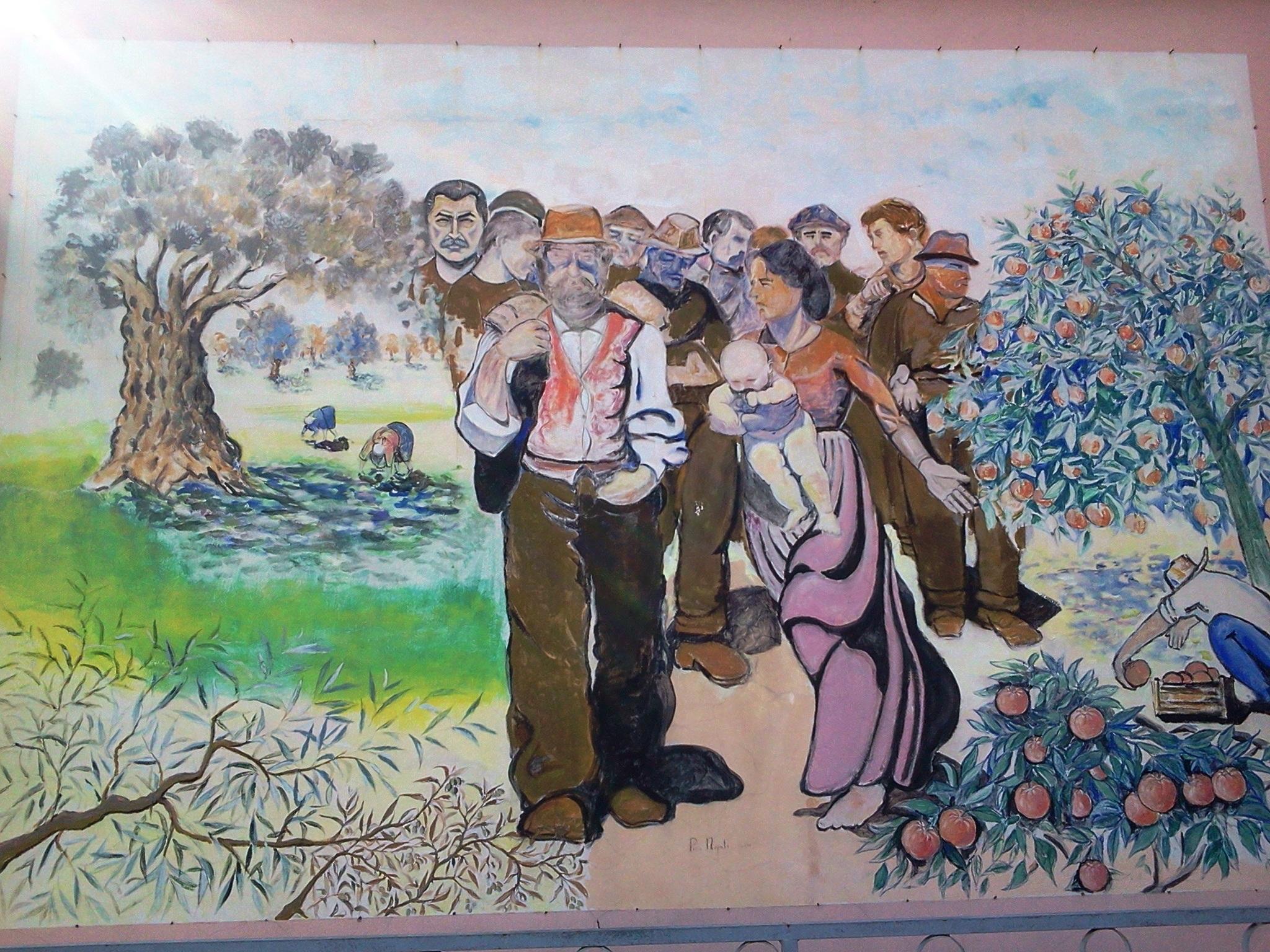 Il murales di Piazza Valarioti adesso cancellato