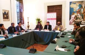 Rappresentanti del Fezzan alla comunità di Sant'Egidio durante la firma dell'accordo