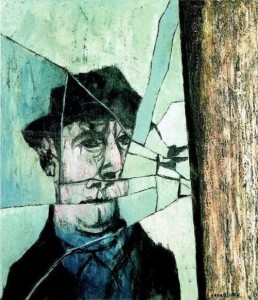 Mino Ceretti, Uomo allo specchio rotto, 1957