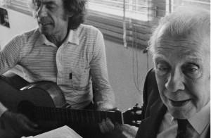 Veneziano e Borges (ph. F. Scianna)