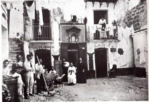 Palermo, Cortile Zito, primi 900, collezione Museo Pitrè