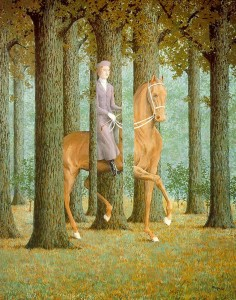 Magritte, Controllo in bianco, 1965