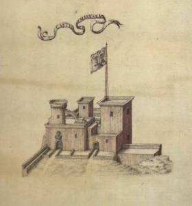 Il Castello di Mazara, da F. Negro e C. M. Ventimiglia, Atlante di città e fortezze del Regno di Sicilia 1640, a cura di Nicolò Aricò, Sicania, Messina 19921.