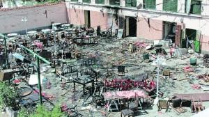 Attentato a  Casablanca. 17-05-2003. Patio della Casa de España (ph. L. De Vega)