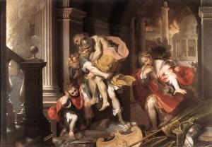 Enea in fuga da Troia, di F. Barocci, 1598