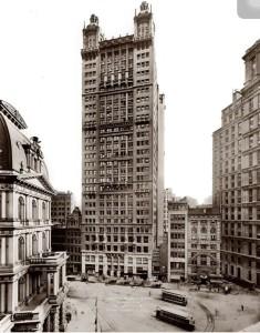 Edificio a Park Row, sede di uno dei più importante newspapers