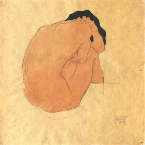 Egon Schiele, Donna ripiegata su se stessa, 1910