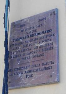 Targa casa natale di Bordonaro (ph. Richichi)