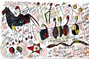 Pittura in caratteri tifinagh, artista tuareg Hawad