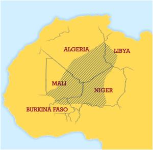 Geografia dei Tuareg