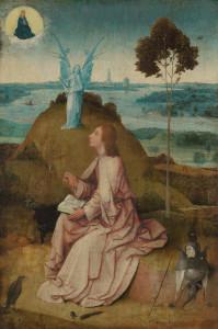 L'evangelista Giovanni scrive il Libro dell'Apocalisse, Hieronymus Bosch, 1505
