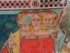 Vultus trifons, Scuola di P. Lorenzetti, Gualdo Tadino (PG), sec. IX