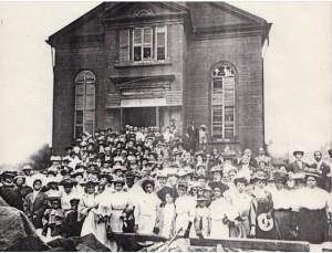 L'Abissynian Baptist Church in una immagine storica
