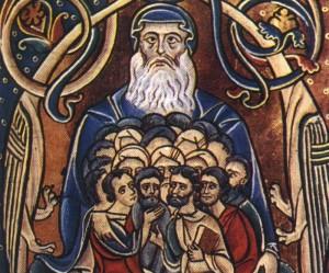 Abramo padre delle religioni monoteiste, Bibbia di Souvigny, sec. XII