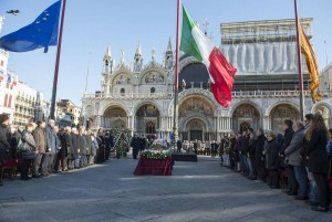 Funerali di Valeria Solesin in Piazza san Marco, a Venezia