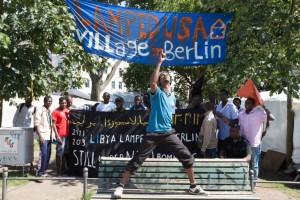 Berlino, rifugiati di Oranienplaz