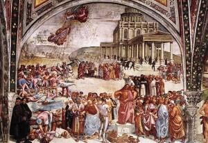 Luca Signorelli - Predicazione dell'Anticristo