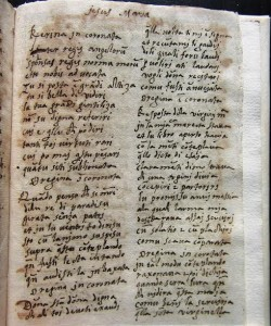 Prima pagina della poesia dedicata alla Annunziata