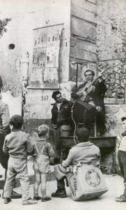 Santangelo e il maestro Garofalo a Paternò (ph. R. Leydi)