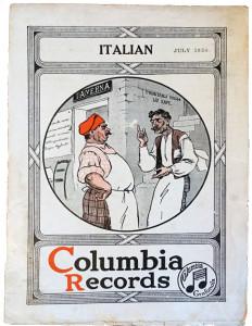 Catalogo dischi etnici italiani Columbia, luglio 1920. Made in Usa (coll. Fugazzotto)