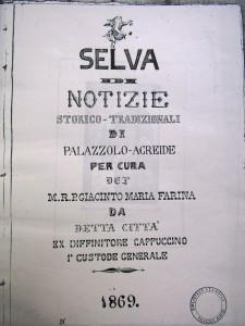 Frontespizio del manoscritto