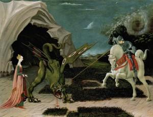 Paolo Uccello, san Giorgio e il drago, 1456