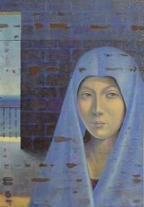Annunciata, Omaggio ad Antonello, 2016, olio su tela