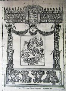Antiporta del manoscritto, disegno a china di G. Di Giacomo, Palermo, 1869