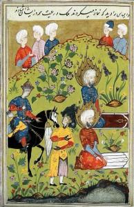 Khidr and Elijah, da un antico manoscritto persiano