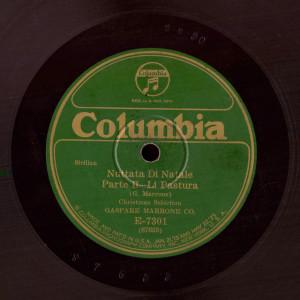 Disco 78 giri Columbia, registrato a NY, luglio 1921 (coll. Fugazzotto)