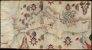 Carta nautica, sec. XV