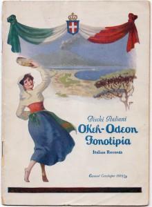 Catalogo dischi etnici italiani Okeh-Odeon- Fonotipia 1924-25. Made in Usa (coll. Fugazzotto)