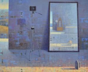 Omaggio a Man Ray, 2015, olio su tela
