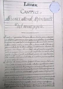 Pagina dal manoscritto