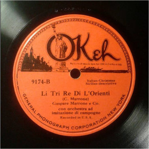 Disco 78 giri, registrato a NY, 1924 (coll. Fugazzotto)