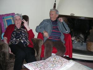 Nevina col marito nel salotto al primo piano (@Carlestal)