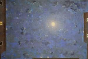 Melanconia- cielo di notte, 2016, acrilico tela