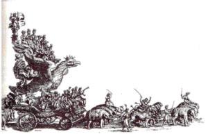 Carro trionfale di santa Rosalia (da M. del Giudice, Palermo magnifico, 1686)