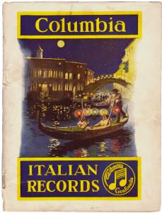 Catalogo generale dischi etnici italiani, Columbia, 1920. Made in Usa (coll. Fugazzotto)