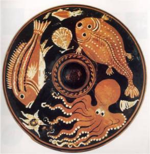 Piatto da pesce (seconda metà del IV sec.a.C.)