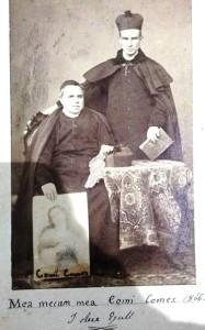 Padre Giacinto seduto con accanto un confratello, 1866
