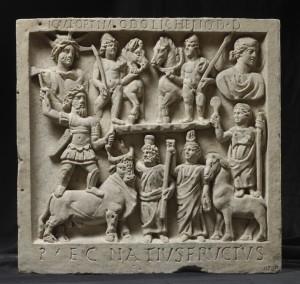 Giove, Giunone e altre divinità, bassorilievo 250 d. C