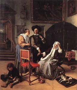 .Jan Steen, Visita dal medico, 1661