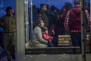 Profughi siriani trattenuti in turchia(Bulent Kilic, Afp)