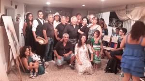 Santino Spinelli e la sua famiglia