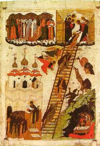 .Icona bizantina di La Scala del Paradiso di S. Giovanni Climaco