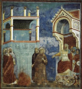 Giotto, San Francesco davanti al sultano, Storie di San Francesco, Assisi, Basilica superiore.